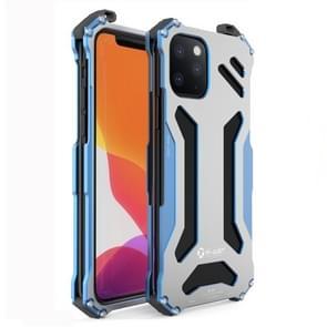 Voor iPhone 11 R-JUST shock proof stofdichte Armor metalen beschermhoes (blauw)