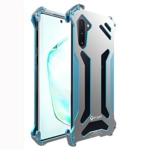 For Galaxy Note 10 R-JUST Shockproof Dustproof Armor Metal Protective Case(Blue)