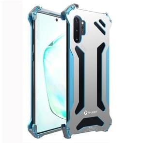 For Galaxy Note 10 Plus R-JUST Shockproof Dustproof Armor Metal Protective Case(Blue)