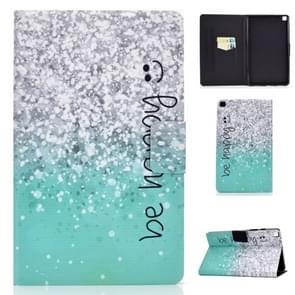 Voor Galaxy tab A 8,0 2019/T290 gekleurde tekening elektrische geperst horizontale Flip lederen draagtas, met houder & kaartsleuven (groen zand)
