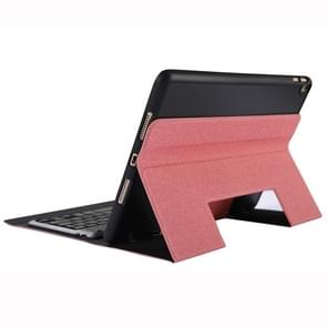 K102B For iPad 10.2 inch 2019 Ultra-thin One-piece Bluetooth Keyboard Leather Case with Stand & Pen Slot(Pink)