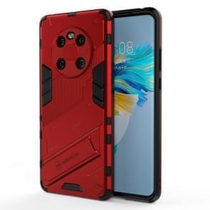 Voor Huawei Mate 40 Punk Armor 2 in 1 PC + TPU Shockproof Case met onzichtbare houder (rood)