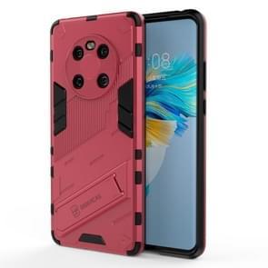 Voor Huawei Mate 40 Punk Armor 2 in 1 PC + TPU Shockproof Case met onzichtbare houder (Rose Red)