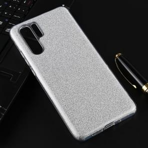 Voor Huawei P30 Pro volledige dekking TPU + PC glittery poeder beschermende terug geval (zilver)