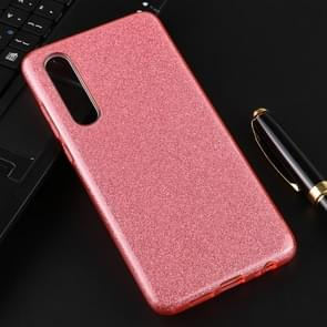 For Huawei P30 Full Coverage TPU + PC Glittery Powder Protective Back Case(Pink)