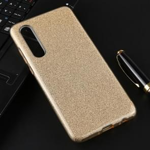 For Huawei P30 Full Coverage TPU + PC Glittery Powder Protective Back Case(Gold)