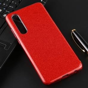 For Huawei P30 Full Coverage TPU + PC Glittery Powder Protective Back Case(Red)