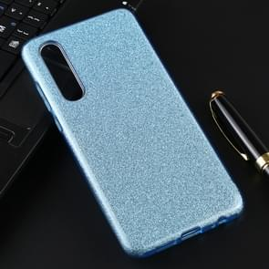 For Huawei P30 Full Coverage TPU + PC Glittery Powder Protective Back Case(Blue)