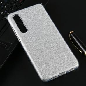 For Huawei P30 Full Coverage TPU + PC Glittery Powder Protective Back Case(Silver)