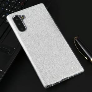 Volledige dekking TPU + PC glittery poeder beschermende terug geval (zilver)