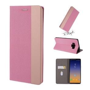 Voor Galaxy Note 9 ultradunne shell magnetische horizontale Flip lederen draagtas met houder & kaartsleuven (roze)