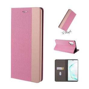 Voor Galaxy Note 10 + ultradunne shell magnetische horizontale Flip lederen draagtas met houder & kaartsleuven (roze)