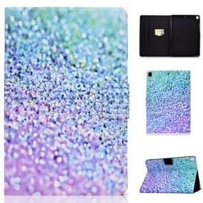 For iPad 10.2 inch Colored Drawing Horizontal Flip Leather Case with Holder & Card Slots & Sleep / Wake-up Function(Sand)