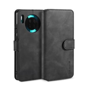 For Huawei Mate 30 DG.MING Retro Oil Side Horizontal Flip Case with Holder & Card Slots & Wallet(Black)