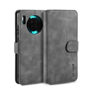 For Huawei Mate 30 DG.MING Retro Oil Side Horizontal Flip Case with Holder & Card Slots & Wallet(Grey)