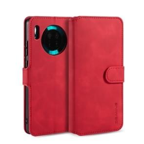 Voor Huawei mate 30 DG. MING retro olie kant horizontale flip case met houder & kaartsleuven & portemonnee (rood)