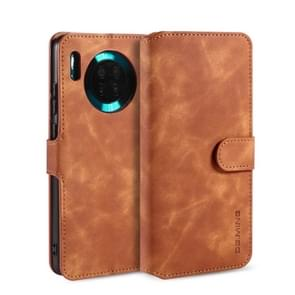 For Huawei Mate 30 DG.MING Retro Oil Side Horizontal Flip Case with Holder & Card Slots & Wallet(Brown)