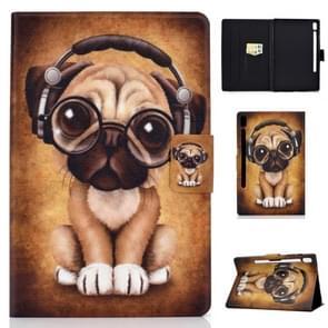 Voor Galaxy tab S6 T860/T865 gekleurde tekening horizontale Flip lederen draagtas met houder & kaartsleuven & slaap/Wake-up functie (hond)