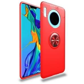 Voor Huawei mate 30/mate 30 5G Lenuo schokbestendig TPU case met onzichtbare houder (rood)