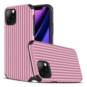 Voor iPhone 11 Pro Travel Box Shape TPU + PC Beschermhoes (Roze)