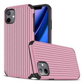Voor iPhone 11 Travel Box Shape TPU + PC Beschermhoes (Roze)