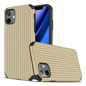 Voor iPhone 11 Travel Box Shape TPU + PC Beschermhoes (Goud)