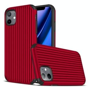 Voor iPhone 11 Travel Box Shape TPU + PC Beschermhoes (Rood)