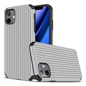 Voor iPhone 11 Travel Box Shape TPU + PC Beschermhoes (Zilver)