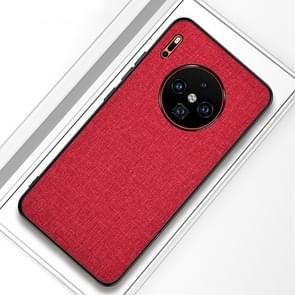 For Huawei Mate 30 Shockproof Cloth Texture PC+ TPU Protective Case(Red)