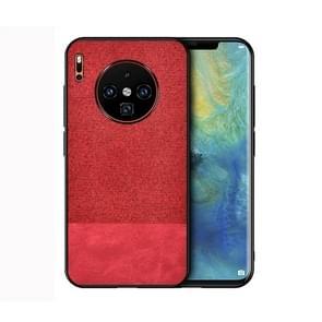 Voor Huawei mate 30 schokbestendige splicing PU + doek beschermende case (rood)