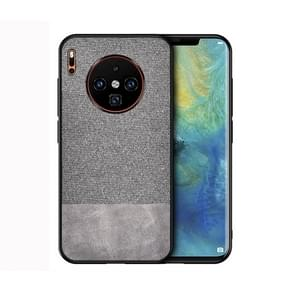 For Huawei Mate 30 Pro Shockproof Splicing PU + Cloth Protective Case(Grey)
