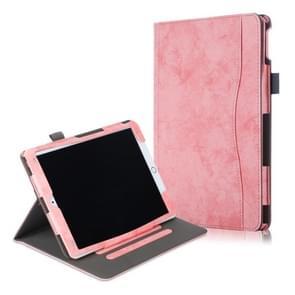 Voor iPad 10 2 koeienhuid textuur horizontale Flip lederen draagtas met houder & slaap/Wake-up functie (roze)
