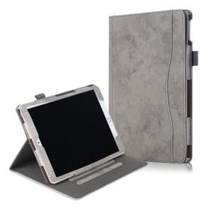 For iPad Air 3 Cowhide Texture Horizontal Flip Leather Case With Holder & Sleep / Wake-up Function(Grey)