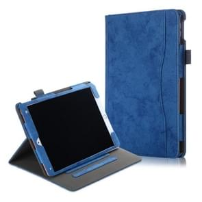For iPad Air 3 Cowhide Texture Horizontal Flip Leather Case With Holder & Sleep / Wake-up Function(Blue)