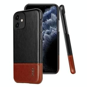 For iPhone 11 IMAK Ruiyi Series Concise Slim PU + PC Protective Case(Black+Brown)