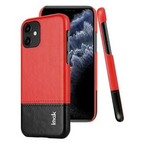 For iPhone 11 IMAK Ruiyi Series Concise Slim PU + PC Protective Case(Black+Red)