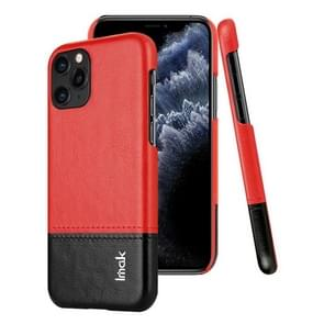 For iPhone 11 Pro Max IMAK Ruiyi Series Concise Slim PU + PC Protective Case(Black+Red)