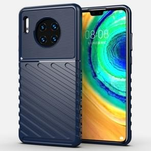 For Huawei Mate 30 Thunderbolt Shockproof TPU Soft Case(Dark Blue)