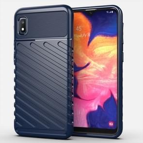 For Galaxy A10e Thunderbolt Shockproof TPU Soft Case(Dark Blue)