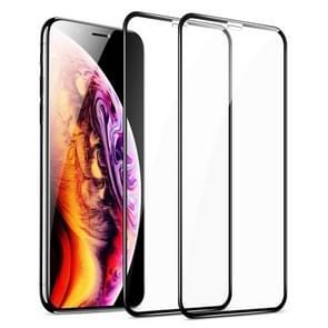 Voor iPhone 11 Pro Max/XS Max 2 stuks ESR 3D gebogen rand volledige dekking gehard glas film Screen Protector