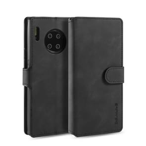 For Huawei Mate 30 Pro DG.MING Retro Oil Side Horizontal Flip Case with Holder & Card Slots & Wallet(Black)