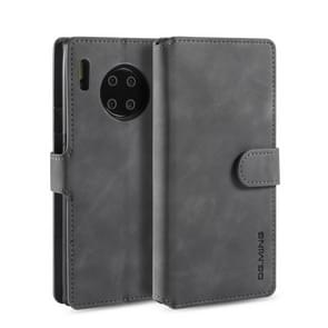 For Huawei Mate 30 Pro DG.MING Retro Oil Side Horizontal Flip Case with Holder & Card Slots & Wallet(Grey)