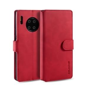 For Huawei Mate 30 Pro DG.MING Retro Oil Side Horizontal Flip Case with Holder & Card Slots & Wallet(Red)