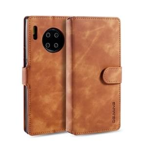 For Huawei Mate 30 Pro DG.MING Retro Oil Side Horizontal Flip Case with Holder & Card Slots & Wallet(Brown)
