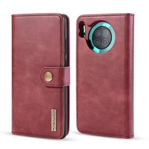 For Huawei Mate 30 DG.MING Crazy Horse Texture Flip Detachable Magnetic Leather Case with Holder & Card Slots & Wallet(Red)