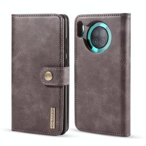 For Huawei Mate 30 DG.MING Crazy Horse Texture Flip Detachable Magnetic Leather Case with Holder & Card Slots & Wallet(Grey)