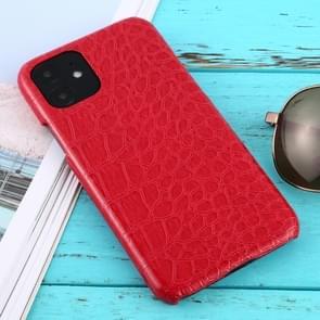 Voor iPhone 11 schokbestendige krokodil textuur beschermhoes (rood)