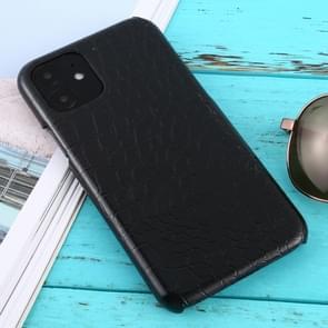 Voor iPhone 11 schokbestendige krokodil textuur beschermhoes (zwart)
