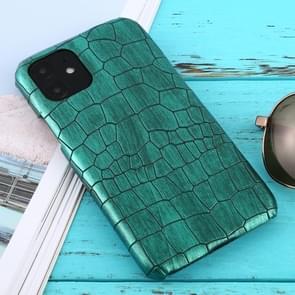 Voor iPhone 11 schokbestendige krokodil textuur beschermhoes (groen)
