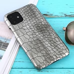 Voor iPhone 11 schokbestendige krokodil textuur beschermhoes (zilver)